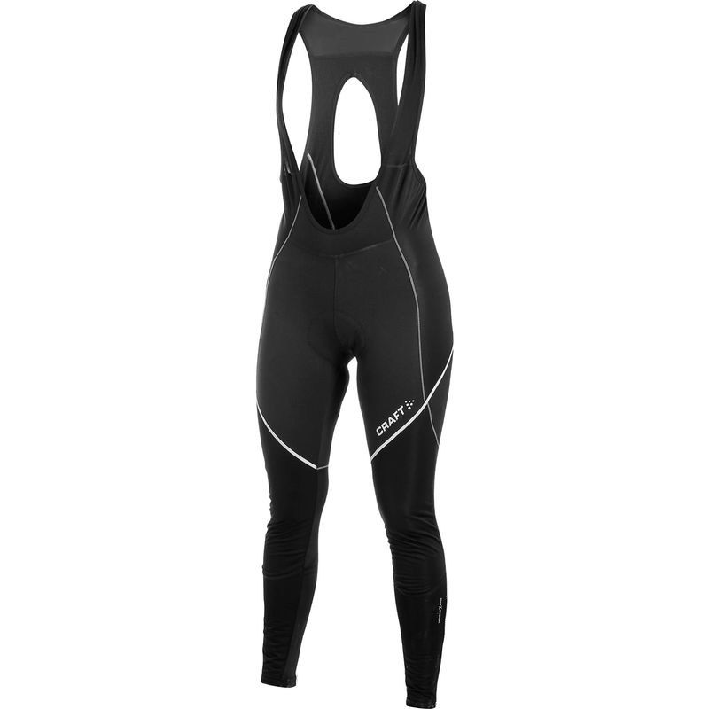 Craftperformance bike storm bib long tight met zeem. met geel.  1902324-9800