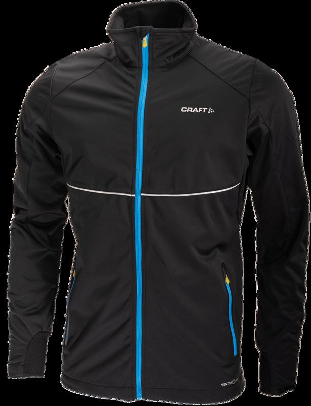 Craft PXC softshell Jacket  black/ iron (blue)