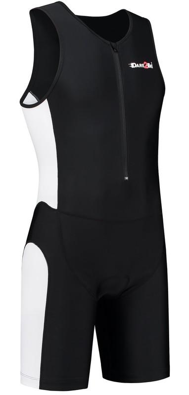Dare2Tri Heren tri-suit frontzip zwart/wit