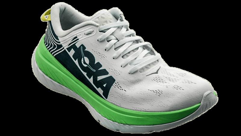 Hoka One One Men's CARBON X -  Green Ash / White