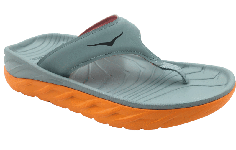 Hoka One One Women's Ora recovery flip - herstel slippers - Blue Haze/Bright Marigold
