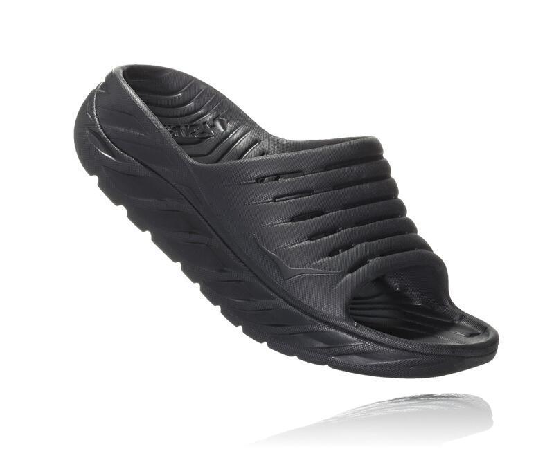 Hoka One One Women Ora recovery slide - herstel slippers - black