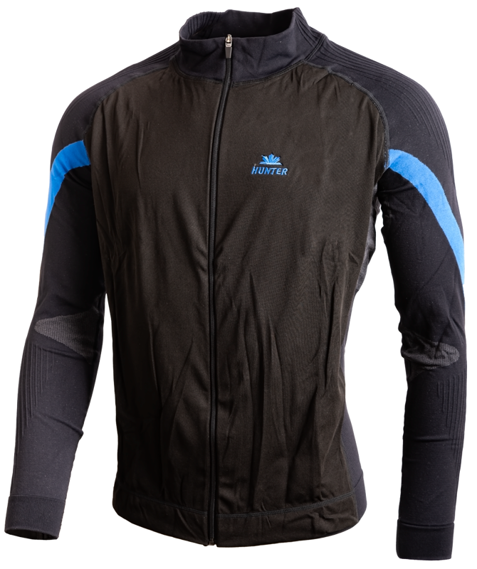 Hunter Versatile jacket Black Cyan