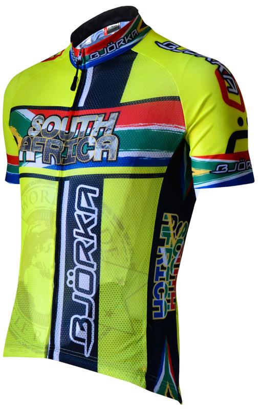 Bjorka Maillot Afrique Du Sud Geel