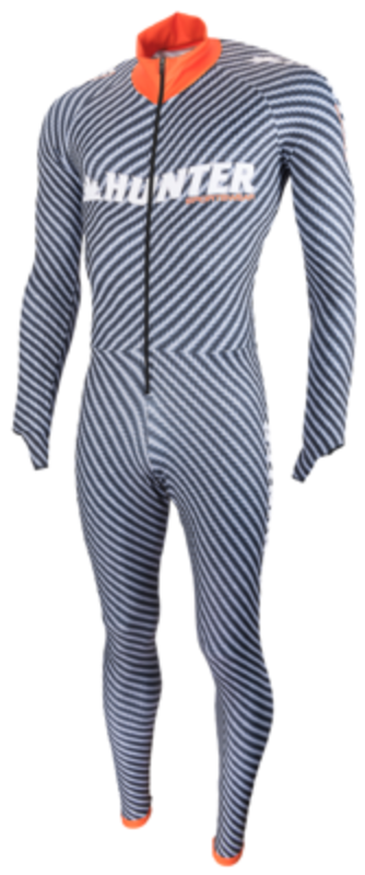 Hunter Lycra Speedsuit met cap.   Carbon Collection