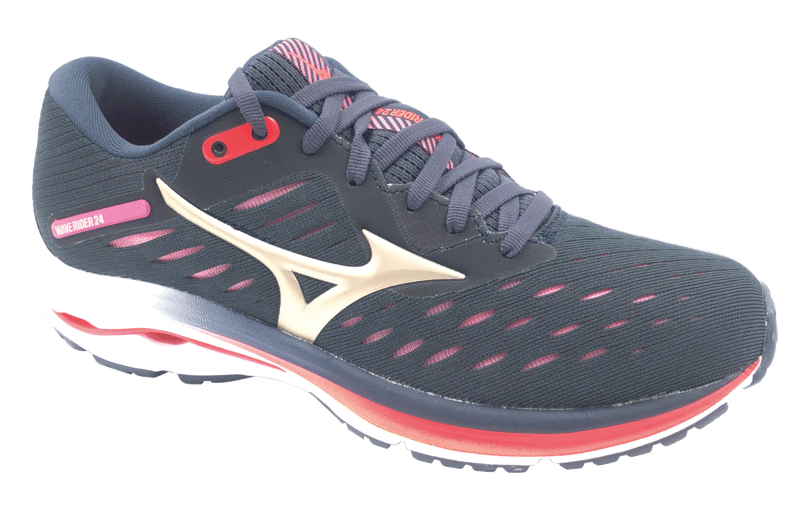 Mizuno Wave Rider 24 Dark Navy/Coral/Purple