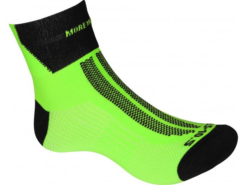 More Mile fluo groen lumino lite sokken