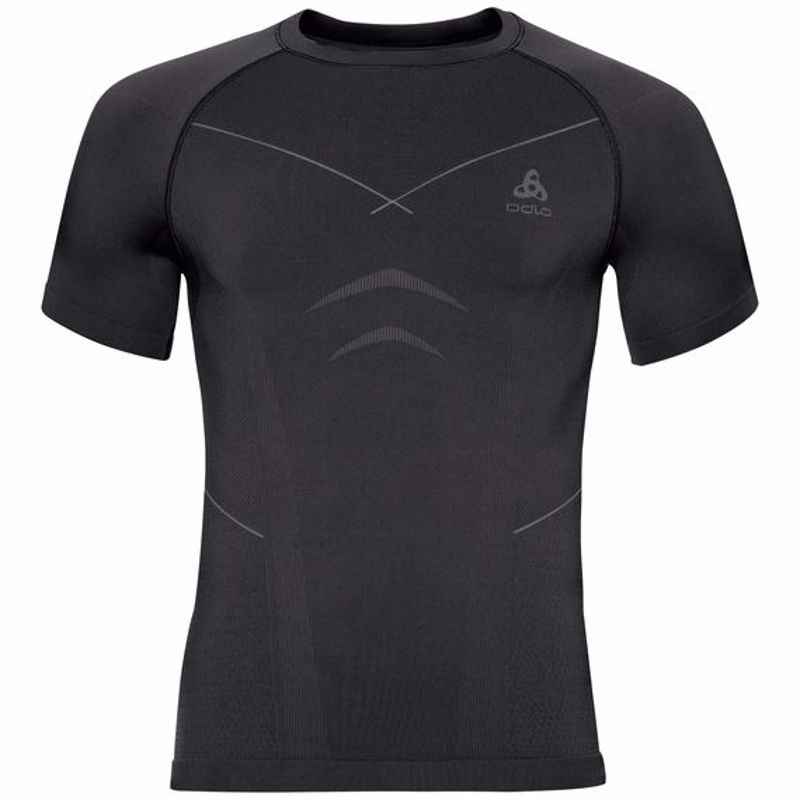Odlo Heren Shirt Korte mouw/ Crew Neck Evolution warm, Zwart