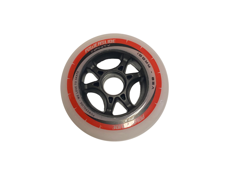 Powerslide Infinity grey/red 100mm
