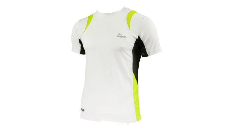 Rogelli Brooklyn t-shirt wit/geel/zwart