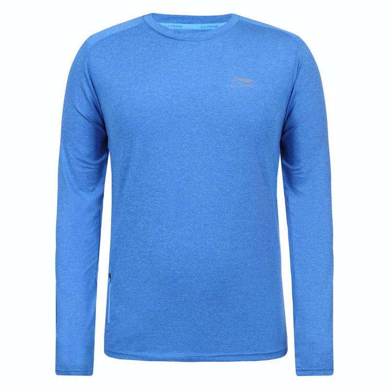 Li-Ning Fritz longsleeve blue melange