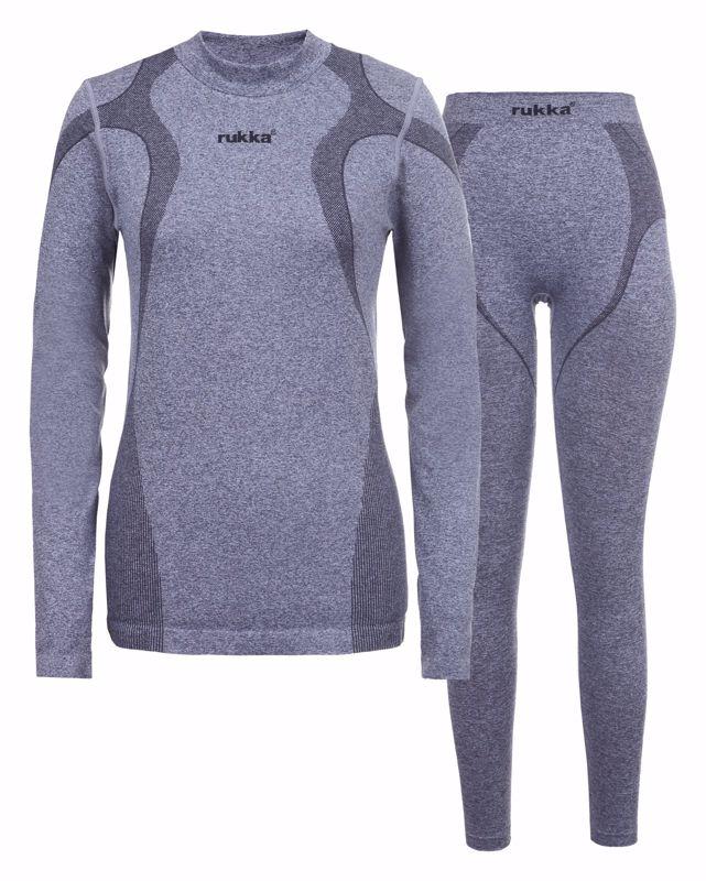 Rukka Gea set lange mouw ondershirt en lange onderbroek grey
