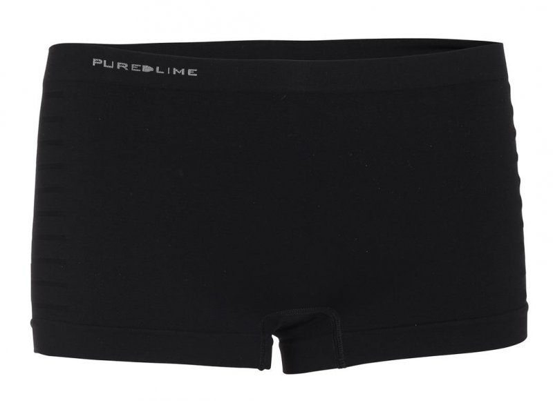 Pure Lime Seamless Boxer Black 0057 dames