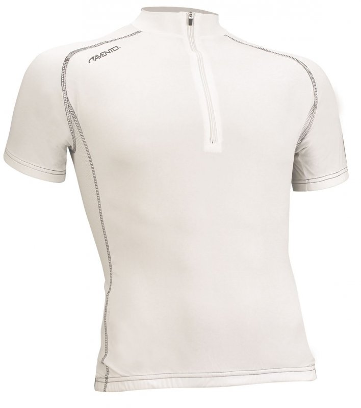 Avento wielershirt korte mouw wit/zilver