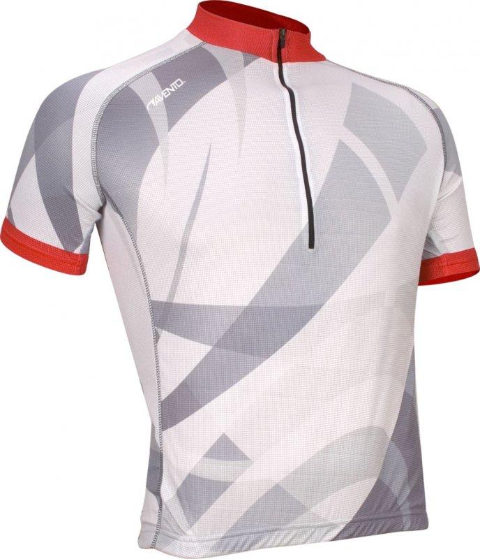 Avento Wielershirt korte mouw wit/rood print