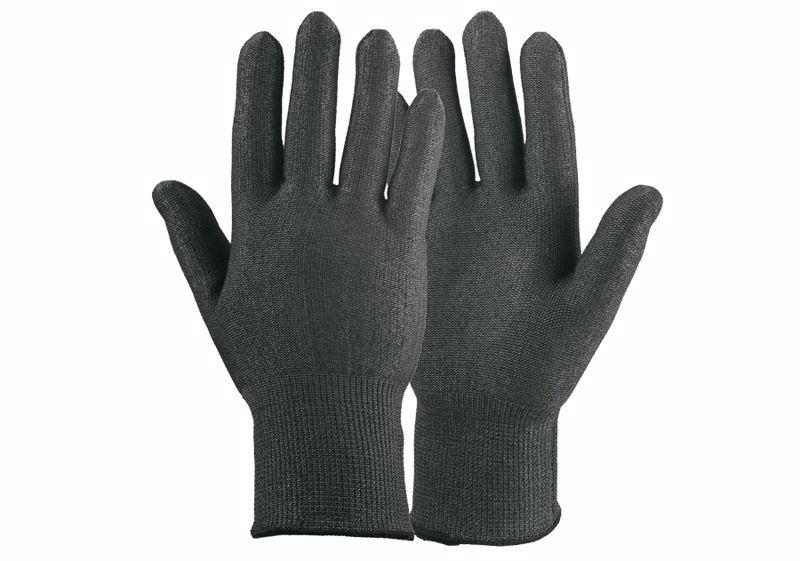 Zandstra tactil snijvaste schaatshandschoen zwart