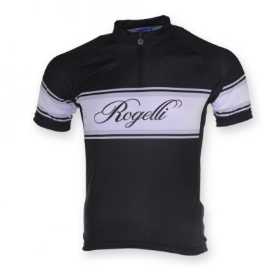 Rogelli Retro wielershirt Zwart/Wit