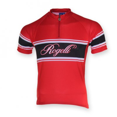 Retro wielershirt Rood/Wit