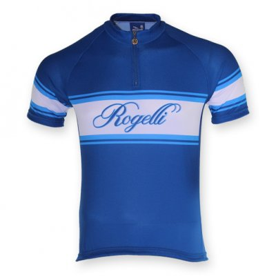 Rogelli Retro wielershirt Kobalt/Wit
