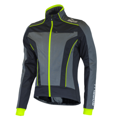 Rogelli Winterjacket Trani 3.0 Black/Grey/Fluo yellow