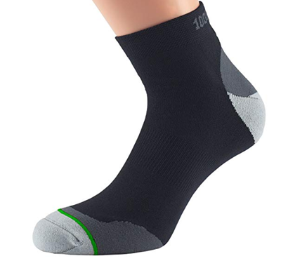 1000 mile  Fusion anklet blister free sock black