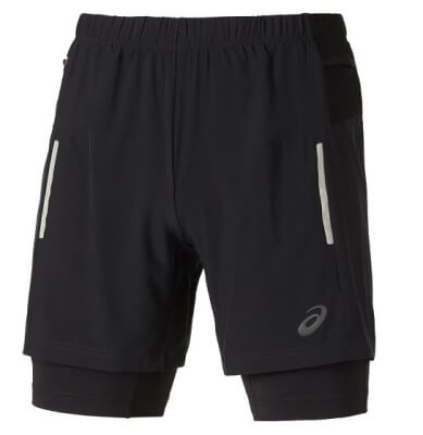 Fuji Trail 2 in 1 short 121670 Men 0939 Balance Black