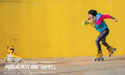 Powerslide Swell 110mm Atomic Tangerine
