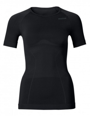Odlo  Ladies Shirt Short Sleeve / Crew Neck Evolution warm, Black 181011