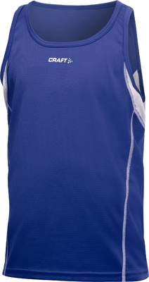 Craft T&F Singlet JR blauw