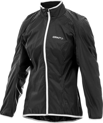 Active Bike Light Rain Jacket Black/White Dames