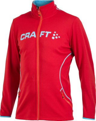 Craft Logo full zip jacket magma