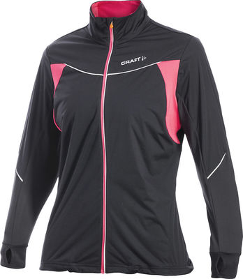 PR Jacket  Stretch Dames Black/Hibiscus