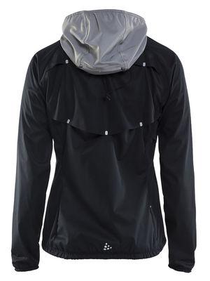 Craft Repel Jacket Women Black Silver Reflective