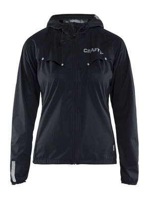 Craft Repel Jacket Women Black Silver Reflective