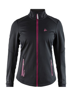 Warm train jacket women/black