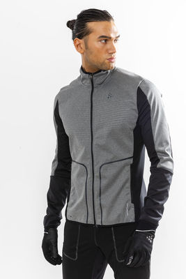 Craft Sharp Softshell Jacket Men DK Grey Melange/Black