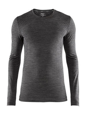 Craft Fuseknit comfort RN LS Men Black melange