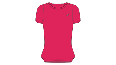 Women's Silver SS top [pixel pink]