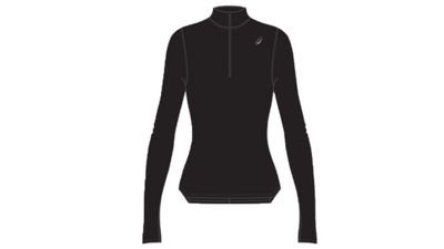 Asics Women's Silver LS 1/2 zip winter top [performance black]