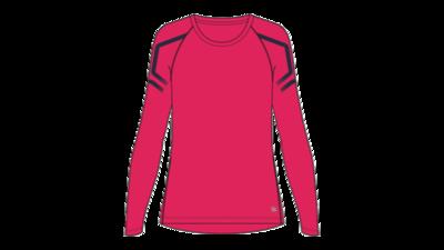 Asics Women's Icon LS 1/2 zip top [pixel pink/peacoat]