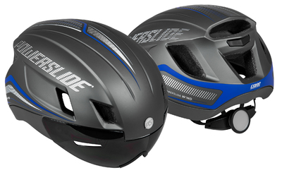 Powerslide Racing Wind Helmet grey/blue