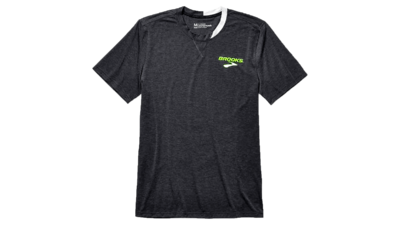 Brooks Men's Elite short sleeve [heather black]