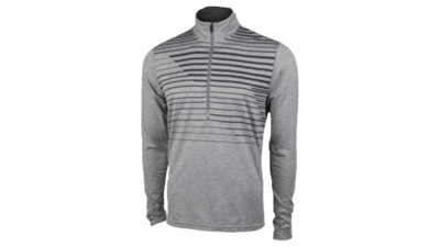 Brooks Men's Dash 1/2 zip [heather Oxford macro]