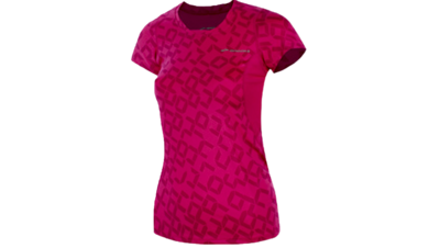 Women's Equilibrium II short sleeve [fuchsia/digiprint]