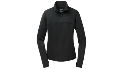 Women's Essential long sleeve 1/2 zip III [black]