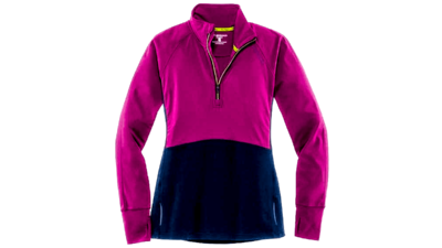 Brooks Women's Drift 1/2 zip [currant/navy]