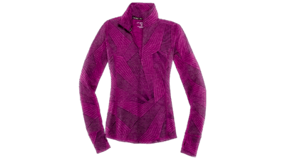 Brooks Women's Dash 1/2 zip [heather currant/big sunshine]