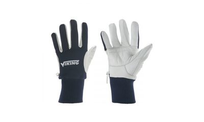Viking Ice skate glove navy/white