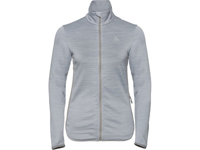Odlo Midlayer Full Zip Steam Grey Melange voor Dames