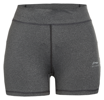 Li-Ning Sienna short tight dames grijs melange